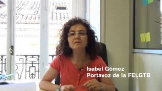 Isabel Gómez manda un mensaje de fuerza a la juventud LGTB