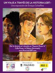 Cartel Exposición Un viaje a través de la historia LGBT+